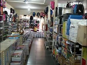 papelaria uberlândia (Foto: Reprodução/ TV Integração)