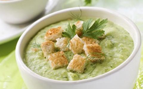 Sopa creme de brócolis e couve-flor