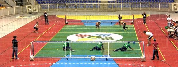 Equipes de MT não vencem na estreia da Copa Brasil de Goalball (Foto: Reprodução/TVCA)