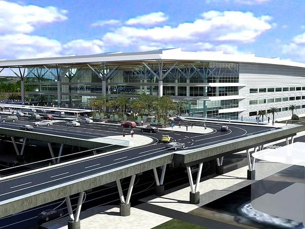 Perspectiva do plano de ampliação do aeroporto de Viracopos,em Campinas (SP) (Foto: Divulgação)