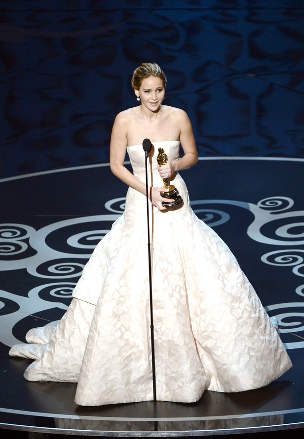 Jennifer Lawrence no Oscar (Foto: Getty Images)