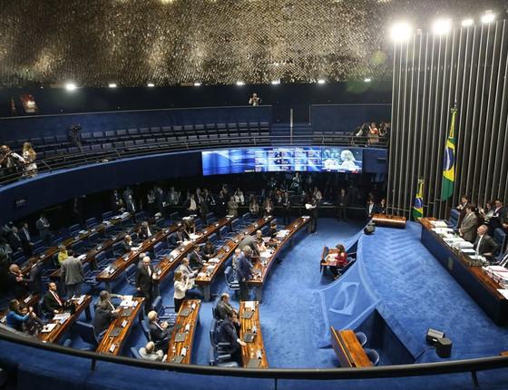Senado aprovou, em segundo turno, o texto-base da Proposta de Emenda Á Constituição do Teto de Gastos (PEC 55/2016) (Foto: Antonio Cruz/ABR)