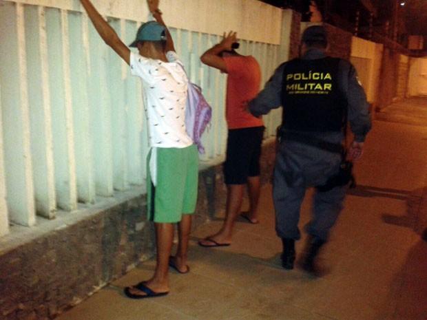 PM potiguar aumentou trabalho ostensivo nas ruas de Natal (Foto: Christiano Couceiro/G1)