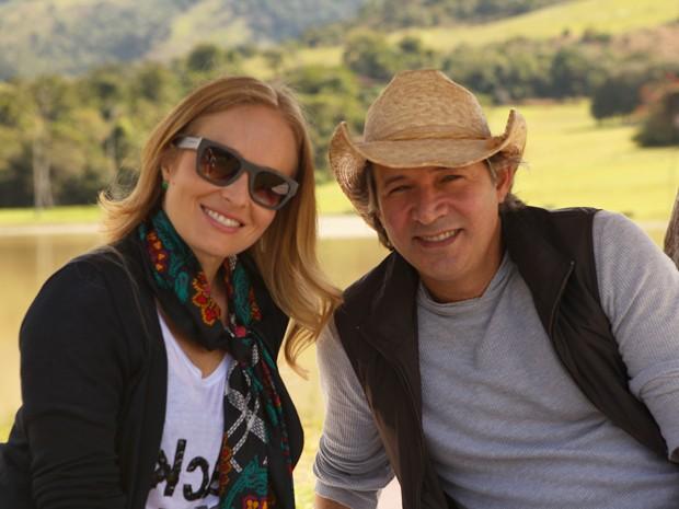 Nelson Freitas ao lado de Angélica na casa de inverno do Estrelas (Foto: Divulgação / Rede Globo)