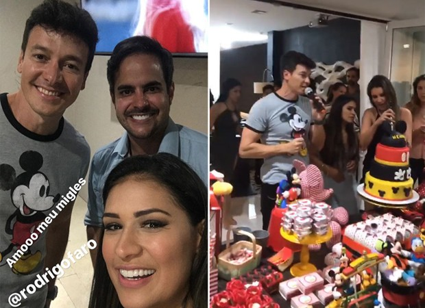Rodrigo Faro com Simone e Kaká Mendes (Foto: Reprodução/Instagram)