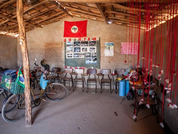 Mostra do Passupreto no acampamento do MST no interior da Bahia - Piracicaba (Foto: Passupreto Imageria)