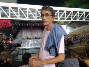 Wilton diz que já assitiu outros shows dos Novos Baianos na Concha (Foto: Maiana Belo/G1 Bahia)