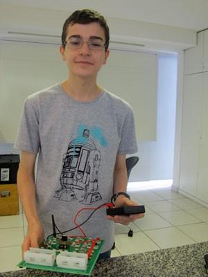 Matheus Camacho, de 15 anos, é o veterano do grupo; no ano passado garantiu duas medalhas nesta mesma competição (Foto: Vanessa Fajardo/ G1)