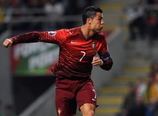 Cristiano Ronaldo Portugal Dinamarca (Foto: AP Photo/Paulo Duarte)