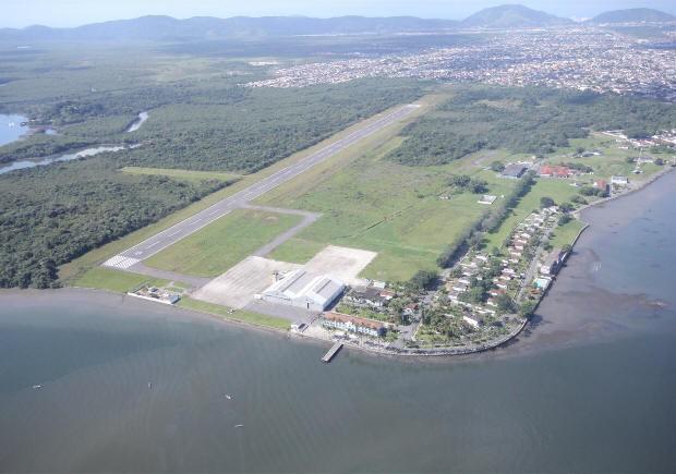 Área que será utilizada para construção do aeroporto (Foto: Pedro Rezende/Prefeitura de Guarujá)