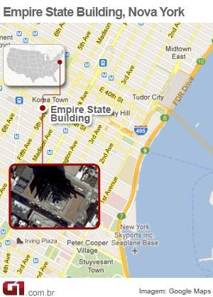 mapa empire state nova york (Foto: Arte/G1)