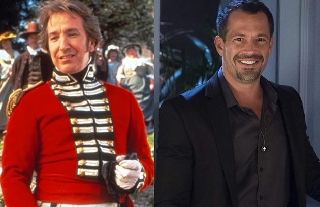 Malvino Salvador será o Coronel Brandon, par de Mariane (Chandelly Braz), papel que foi de Alan Rickman no longa (Foto: Reprodução)