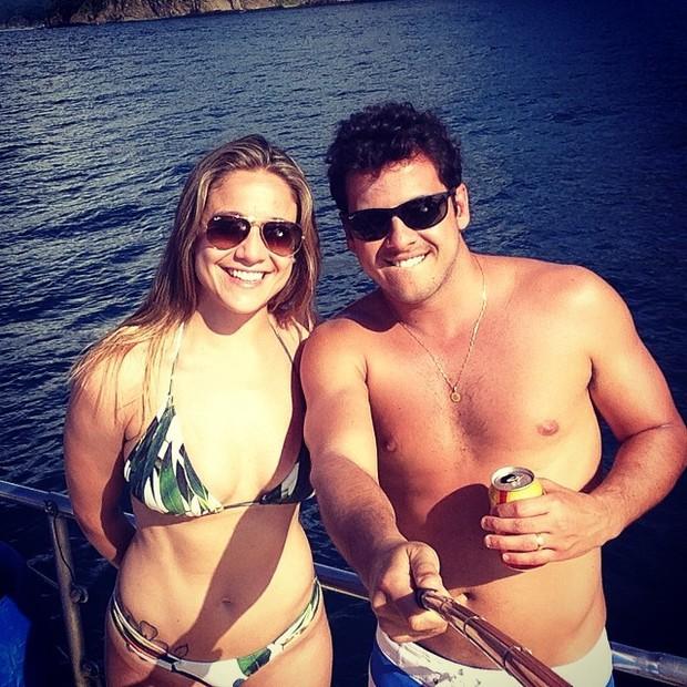 Fernanda Gentil e o marido, Mateus Braga, na Costa Rica (Foto: Instagram/ Reprodução)
