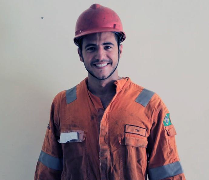 Matheus é engenheiro em Barra Longa, MG (Foto: Raquel Gonzalez/Gshow)