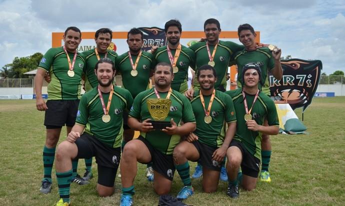 Rugby Roraima, equipe Grua do Amazonas (Foto: Nailson Wapichana)