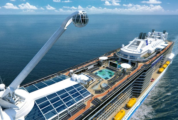Perspectiva artística do navio Quantum of the Seas, da Royal Caribbean (Foto: Divulgação/Royal Caribbean)