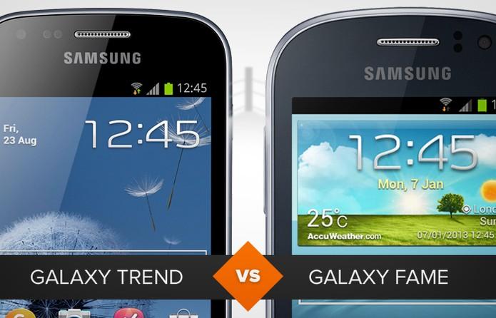 Comparativo Galaxy Trend e Galaxy Fame (Foto: Arte/TechTudo)