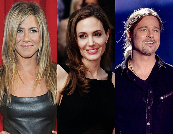 Jennifer Aniston, Angelina Jolie e Brad Pitt (Foto: Getty Images)