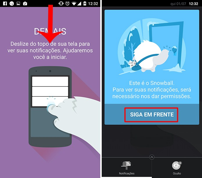 Snowball precisa que usuário dê autorização ao aplicativo antes de funcionar corretamente (Foto: Reprodução/Elson de Souza)