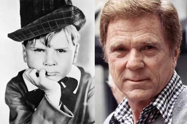 Jackie Cooper nos anos 1930 e nos anos 1990 (Foto: Divulgação)