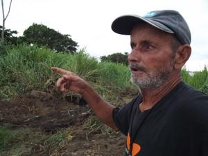 ossada de mulher é encontrada em araruama (Foto: Heitor Moreira/G1)