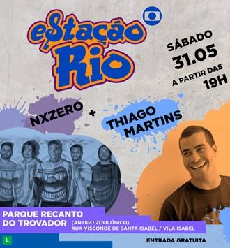 NXZero e Thiago Martins são as atrações da segunda edição do Estação Rio (Foto: Divulgação)