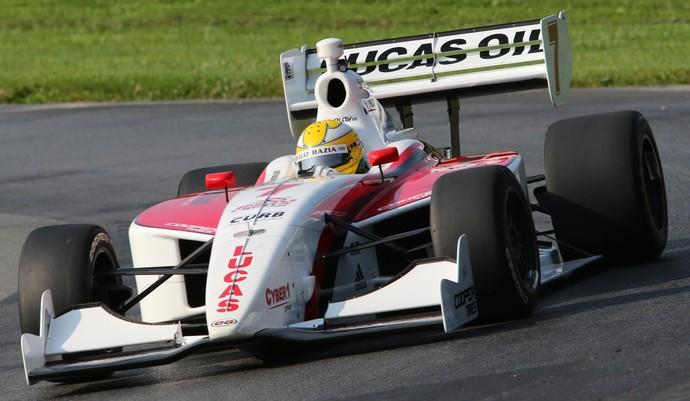Luiz Razia com carro da equipe Schmidt na Indy Lights em 2014 (Foto: Divulgação)