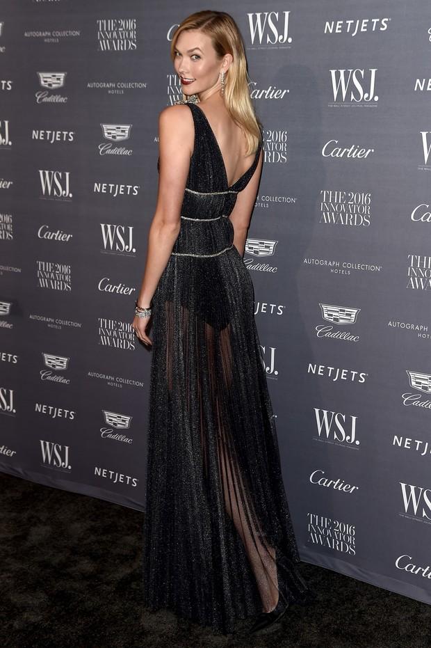 Karlie Kloss em premiação em Nova York, nos Estados Unidos (Foto: Nicholas Hunt/ Getty Images/ AFP)