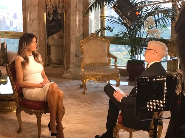 Melania Trump em entrevista (Foto: Reuters)