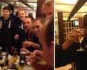 Polêmico, 'Tintim' russo comemora taça da Liga com beijo e muita bebida