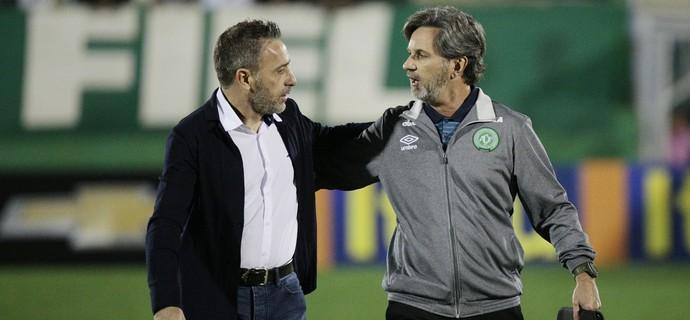 Paulo Bento e Caio Júnior, Cruzeiro e Chapecoense (Foto: Marcio Cunha / Light Press)