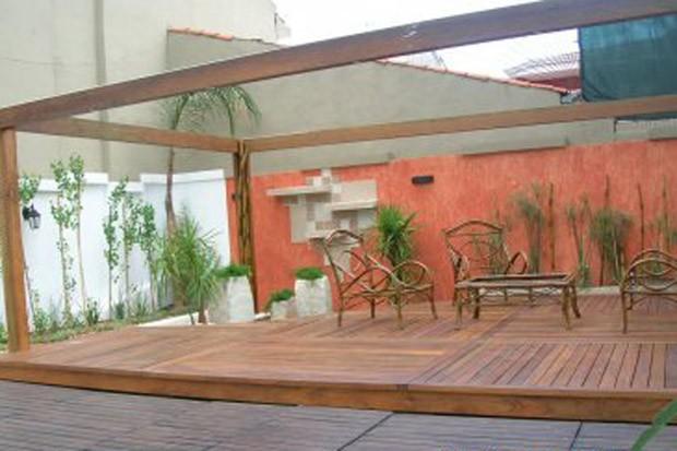 Ambiente externo na casa de Roger Abdelmassih em Assunção, no Paraguai (Foto: Divulgação)