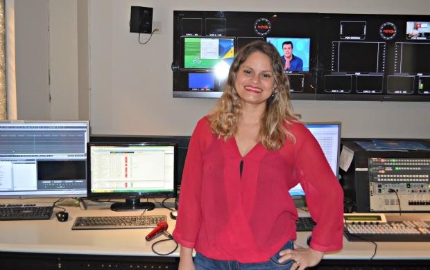 Crislei Souza produziu a pauta para a reportagem que rendeu a premiação a emissora (Foto: Murilo Lima)