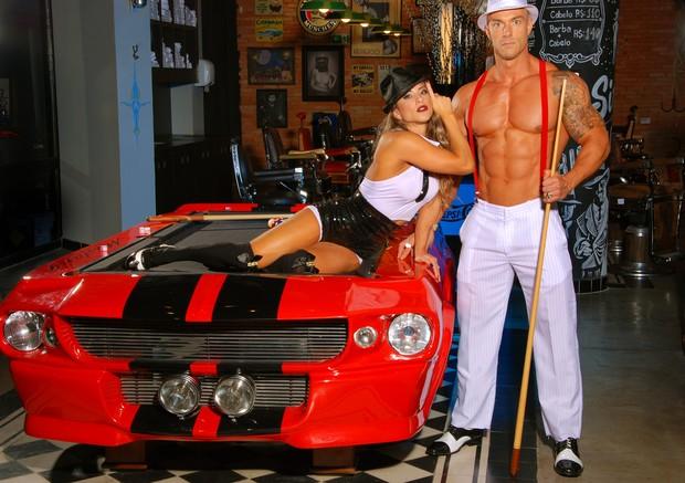 Michelly Crisfepe e marido (Foto: Divulgação)