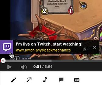 Detalhe do alerta enviado pelo Twitch ao YouTube  (Foto: Reprodução/Twitch)