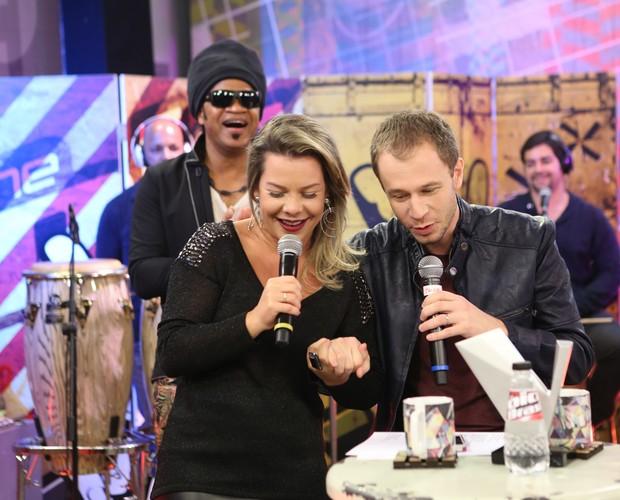 Tiago Leifert rasga elogios para a apresentadora (Foto: Isabella Pinheiro/Gshow)