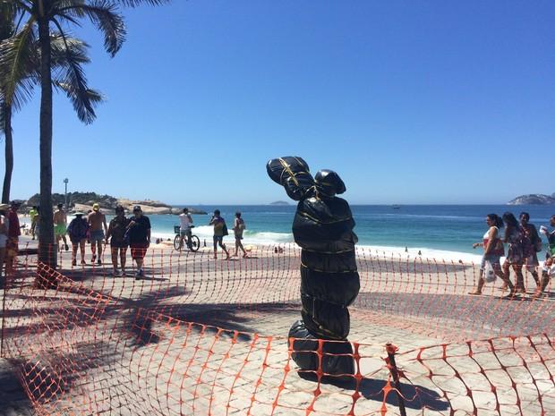 Estátua de Tom Jobim será inaugurada no Rio (Foto: Matheus Rodrigues/ G1)