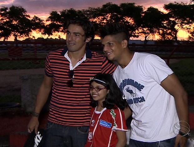 Lucão, Leandro Kível e Ana Clara (Foto: Reprodução TV Sergipe)