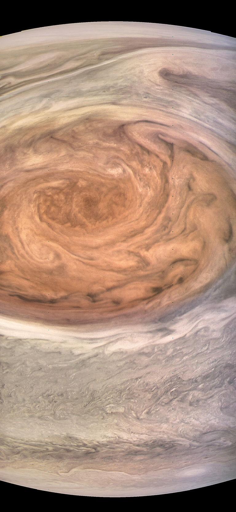 Grande Mancha Vermelha de Júpiter (Foto: NASA/JPL-Caltech/MSSS/SwRI/Kevin M. Gill)