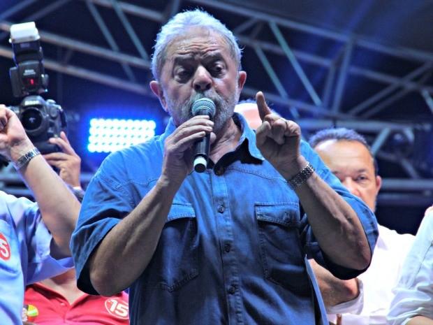 Lula em Manaus (Foto: Adneison Severiano/G1 AM)