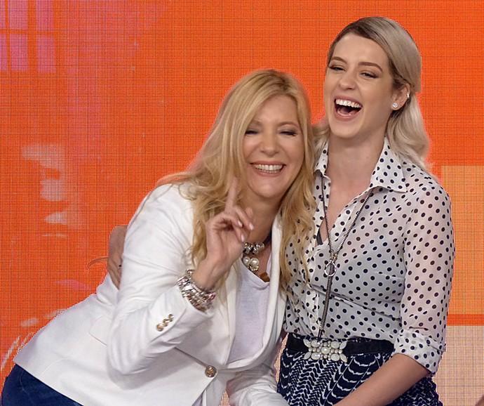 Branca e Sophia Abrahão falam de parceria e amizade no Vídeo Show (Foto: Cristina Cople / Gshow)