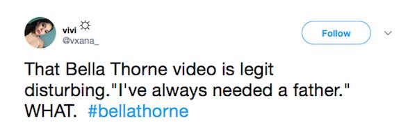 Uma fã fazendo piada com o supost vídeo erótico de Bella Thorne vazado na internet (Foto: Twitter)