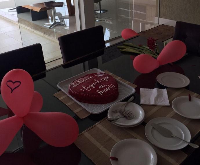 Miguel fez uma surpresa especial para comemorar aniversário de namoro (Foto: Arquivo Pessoal)