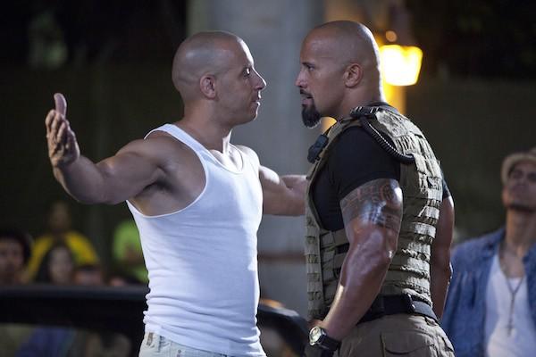 Os atores Dwayne The Rock Johnson e Vin Diesel (Foto: Reprodução)