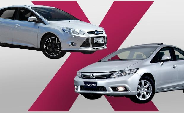 Ford Focus ou Honda Civic: Qual comprar? (Foto: Autoesporte)