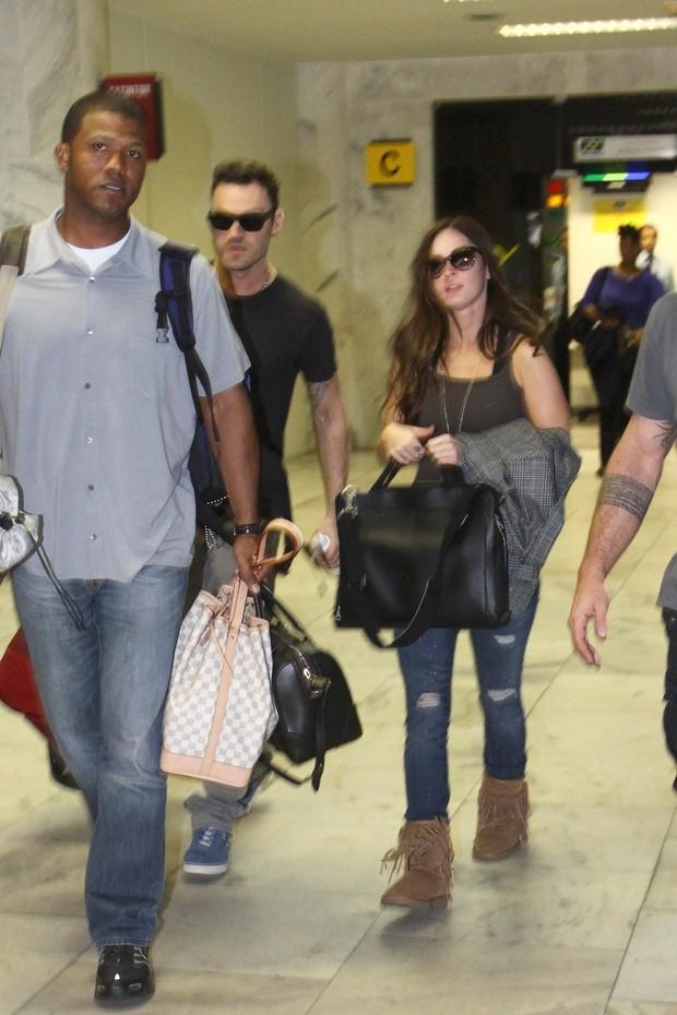 Megan Fox chega ao Rio (Foto: Gabriel Reis / Agnews)