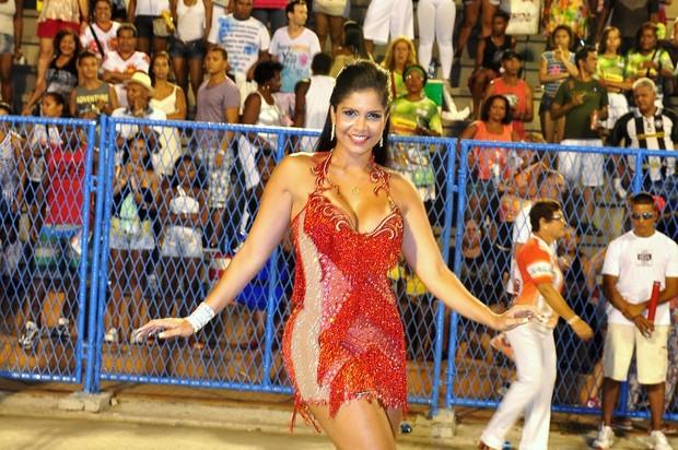 Raíssa Carvalho participa do ensaio técnico da Salgueiro (Foto: Roberto Teixeira)