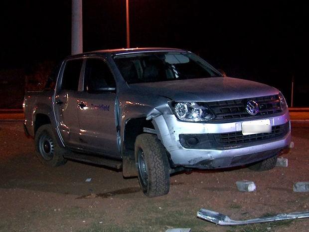 Assaltantes atropelaram e mataram motociclista durante fuga em Cuiabá (Foto: Reprodução/TVCA)