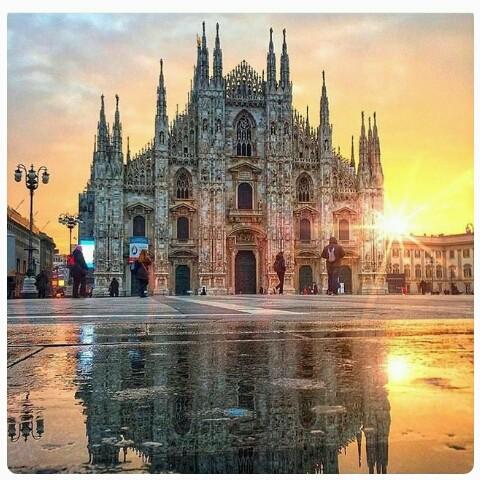 Marina postou uma imagem da Catedral de Milão sem se dar conta da prisão do pai e foi criticada nas redes (Foto: Reprodução Instagram)