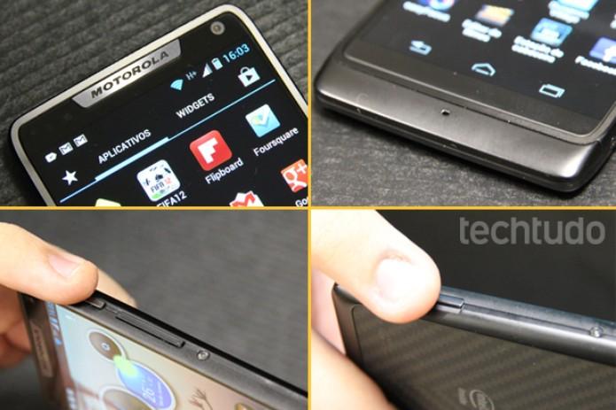 Detalhes do Motorola Razr i (Foto: Allan Melo / TechTudo)